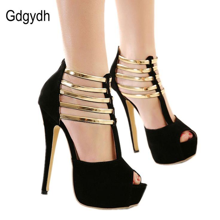 Encontrar Más Bombas de las mujeres Información acerca de Gdgydh Al Por  Mayor 2017 de moda de verano de tacón alto zapatos de las mujeres  decoración de ...