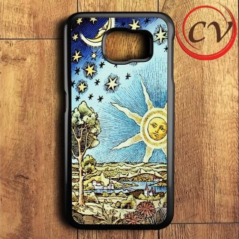 Old Starry Sun And Moon Samsung Galaxy S6 Case