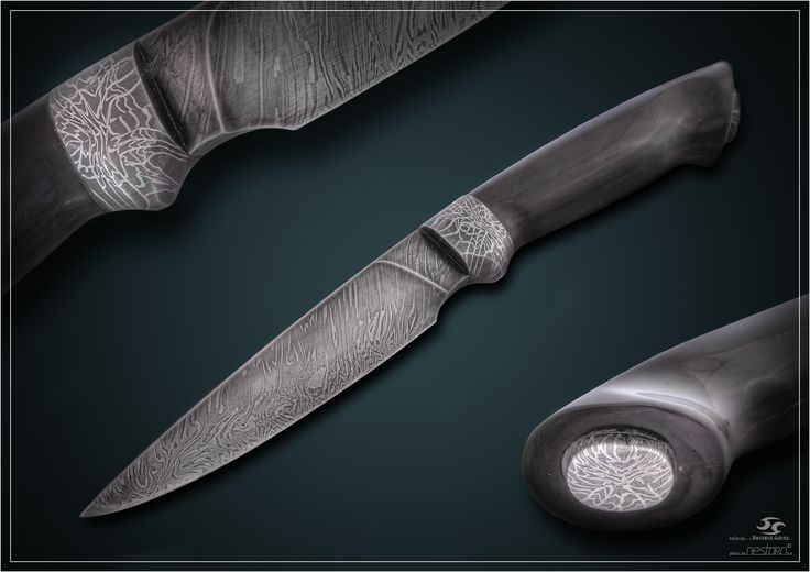 knives mosaic damascus steel