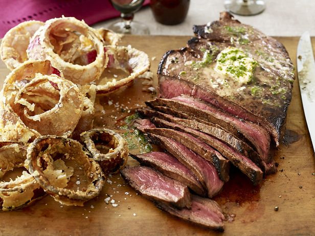 London Broil with Herb Butter from FoodNetwork.com