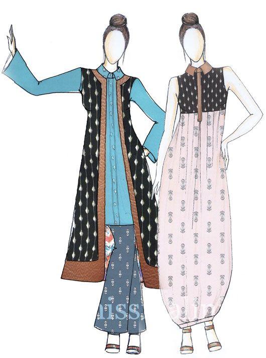 boho-traveller-chic sketch by designer Nisshk (Nishka Lulla).