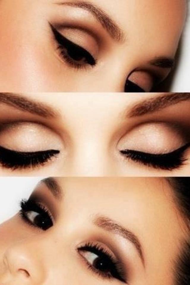 Makeup for dark haired beauties with dark brown eyes