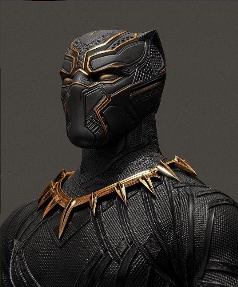 Un supuesto traje de Black Panther retocado en oro por un artista no es el uniforme oficial de su película