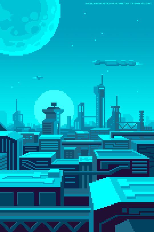 #future #pixelart #gif #city