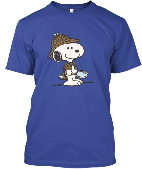 Snoopy Sherlock !!! Deep Royal T-Shirt Front