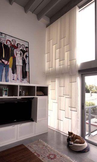 layered sheer panel window treatment