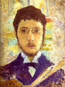 PIERRE BONNARD..... Self-portrait, circa 1889. (3 October 1867 – 23 January 1947) was a French painter and printmaker, as well as a founding member of Les Nabis.