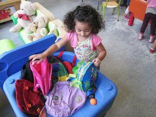 Welkom in de eerste kleuterklas: Thema: Zakken en tassen