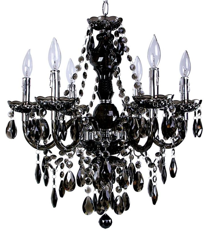 Concerto 6-Light Black Chandelier