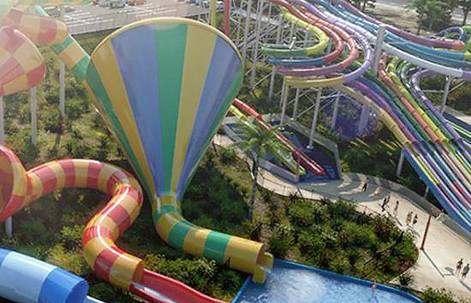 "The world's biggest water theme park has opened in Sydney's west, and is set to become a ""major tourist attraction which will boost employme..."