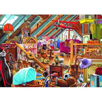 Falcon de luxe Toys in the Attic 1000 piece nostalgic jigsaw puzzle