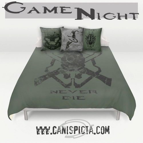 Halo Master Chief Bedding Duvet Video Game Bed Set by CanisPicta
