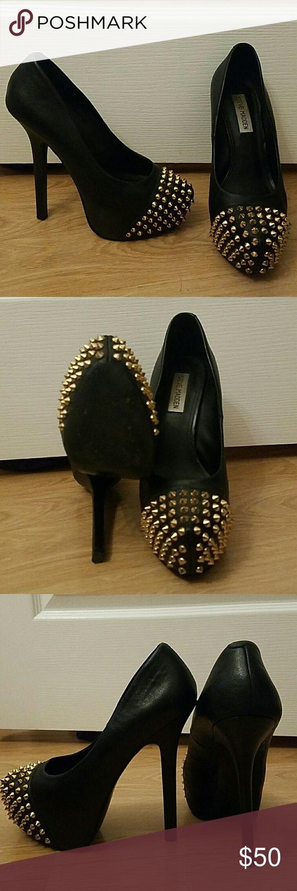 Steve Madden spiked heels 8 Sexy, black spiked heels. Steve Madden. Size 8. Gently used. Steve Madden Shoes Heels