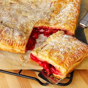 No Fuss Fruit Pie....Nothing could be easier than this fruit pie made with puff pastry sheets. Add your favorite prepared pie filling—cherry, apple, blueberry—and you've got a delicious, homemade pie...