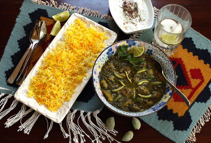 Turmeric & Saffron: Khoresh Chaghaleh Badoom - Green Almond Stew