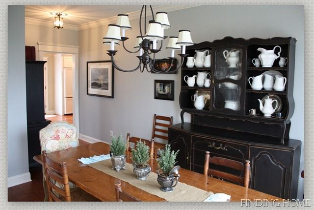 Idea for painting my old china cabinet that I can't seem to get rid of