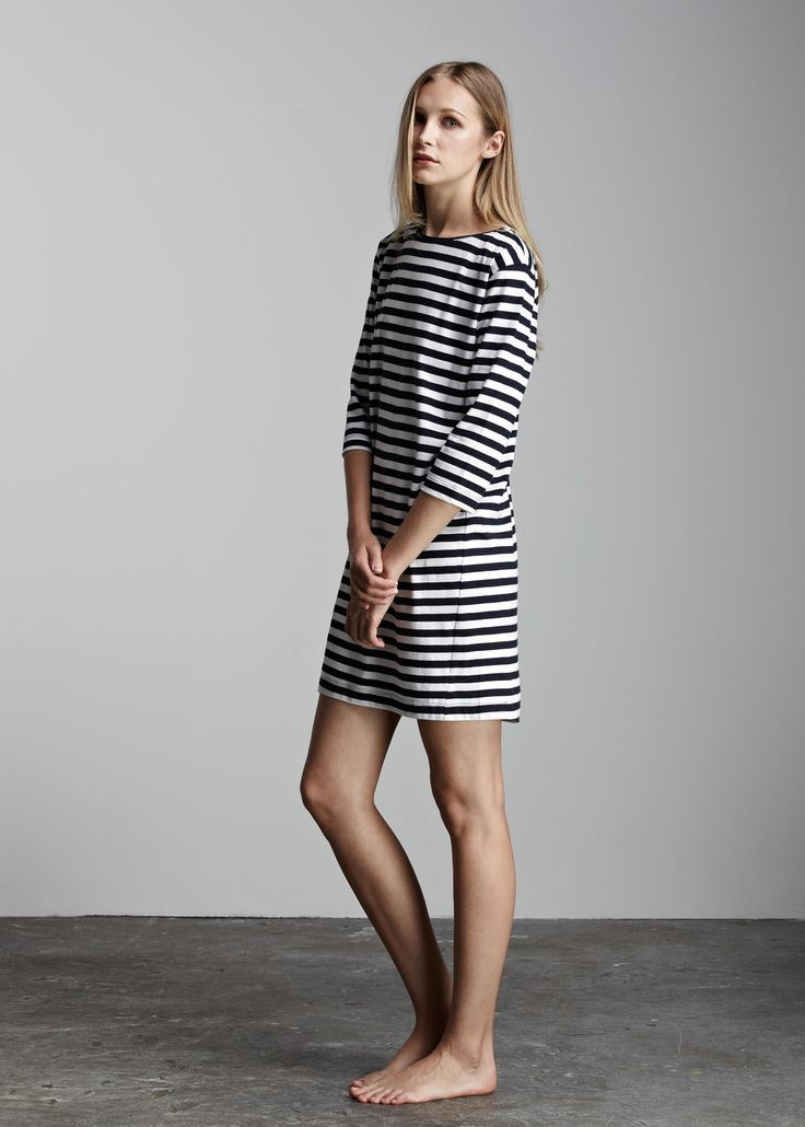 kowtow - 100% certified fair trade organic cotton clothing - Building Block Boat Neck Dress