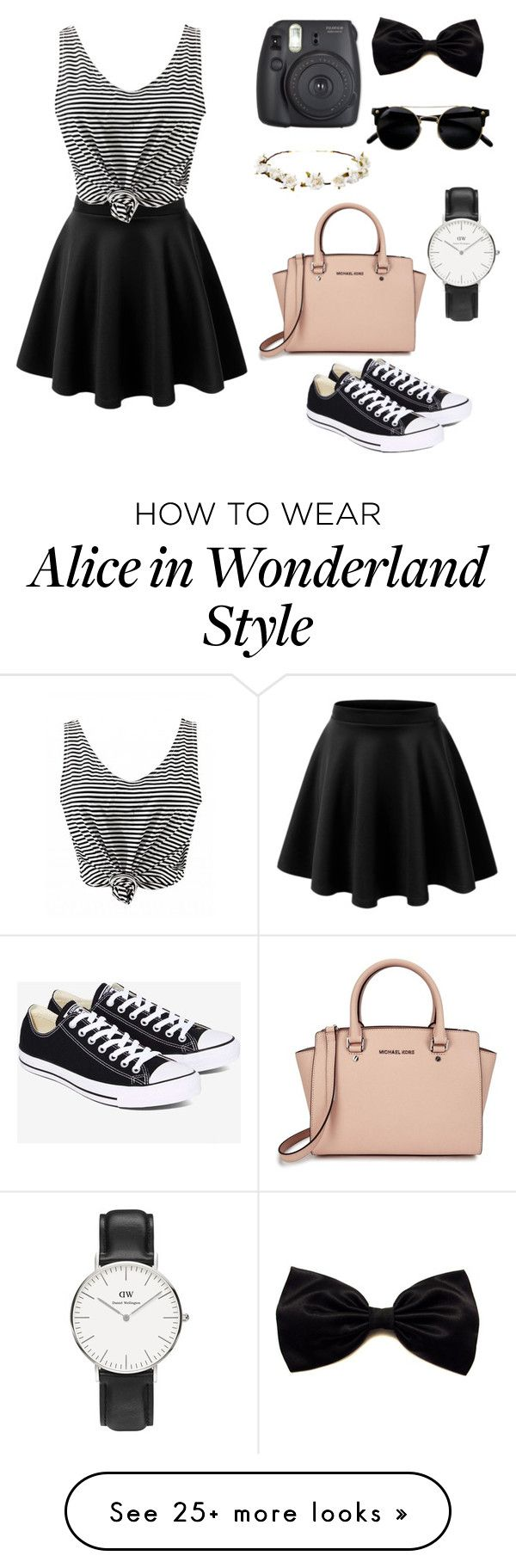 """summer"" by flavie-23 on Polyvore featuring Converse, Michael Kors, Daniel Wellington and Cult Gaia"