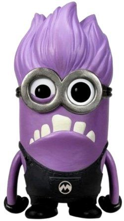 Funko Pop's Evil Purple Minion. He makes a great desk accessory and a good model for the The Evil Minion Costume.