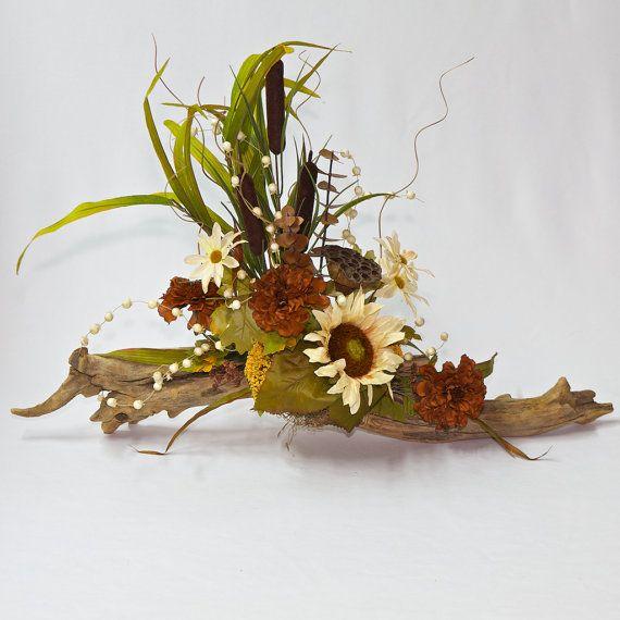 Flower Arrangement Using Driftwood: Driftwood Floral Arrangement, Driftwood Flower Arrangement
