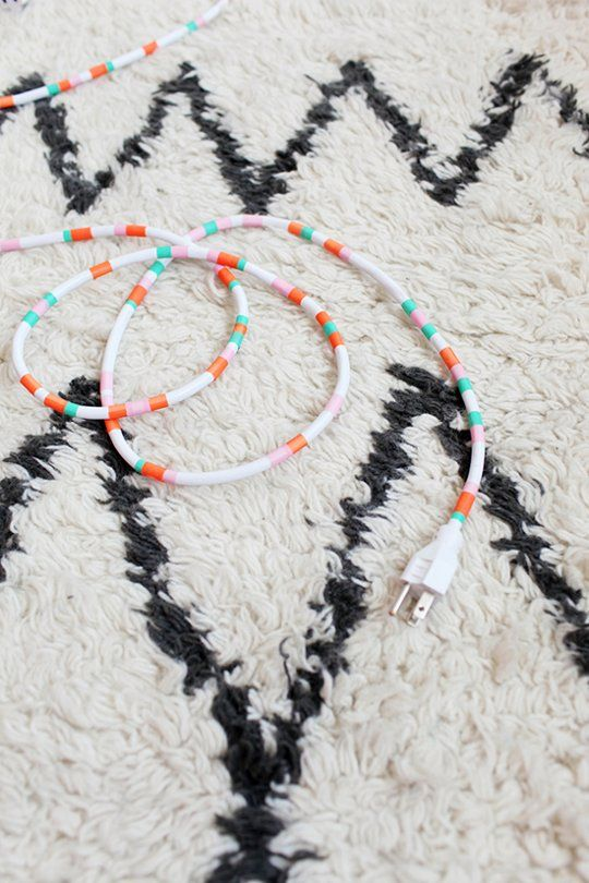 Prettify Your Power Cords With Washi Tape