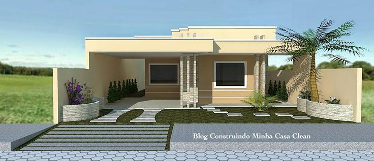 Fachadas de casas t rreas pequenas com garagem for Fachadas de viviendas pequenas