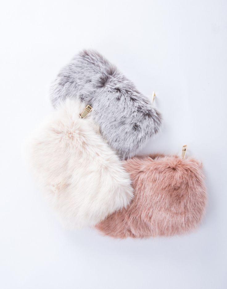 On the Go Fur Crossbody Pouch