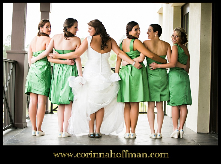 Www.corinnahoffman.com Bride And Bridesmaids With Their