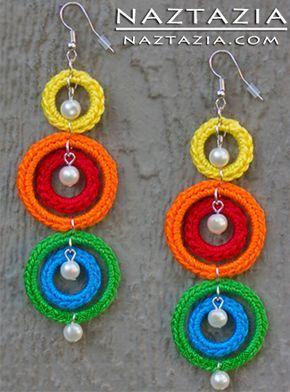 Fai da te Free pattern e gioielli collana di dichiarazione di YouTube Video Tutorial Facile crochet con Roses Fiori di Donna Wolfe da Naztazia