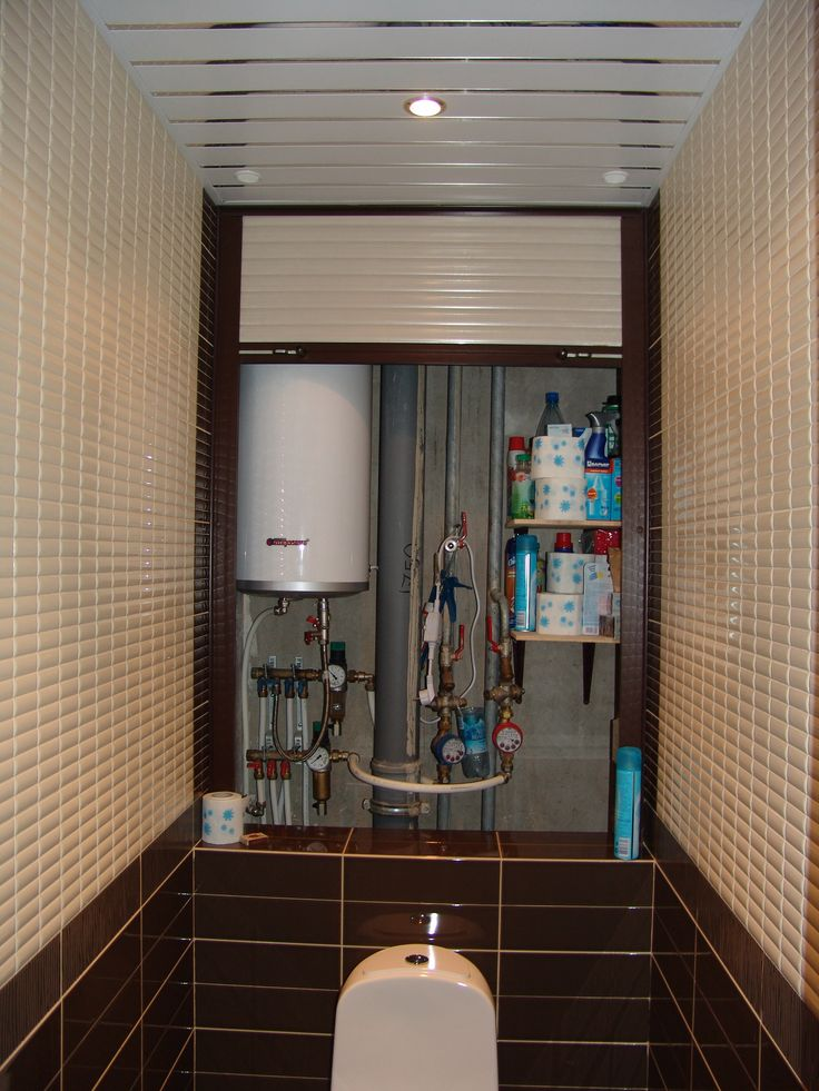 шкаф для бойлера в туалете