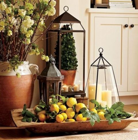 love dough bowls and lanterns as containers