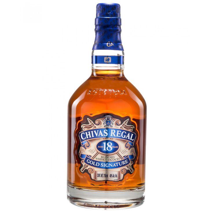 Whisky Chivas Regal un blended que ofrece una mezcla única de sabores. La riqueza excepcional radica en su aroma a caramelo de mantequilla chocolate negro y frutos secos. Sus toques de especias y humo se combinan para producir un final largo y cálido.