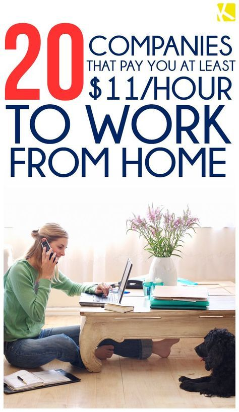 20 companies that pay you at least 11 hour to work from for Stay at home craft jobs