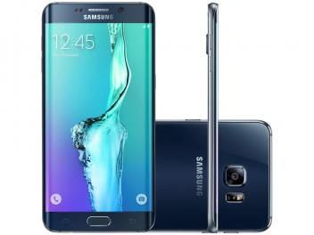 "Smartphone Samsung Galaxy S6 Edge+ 32GB Preto 4G - Câm. 16MP + Selfie 5MP Tela 5.7"" Proc. Octa Core"