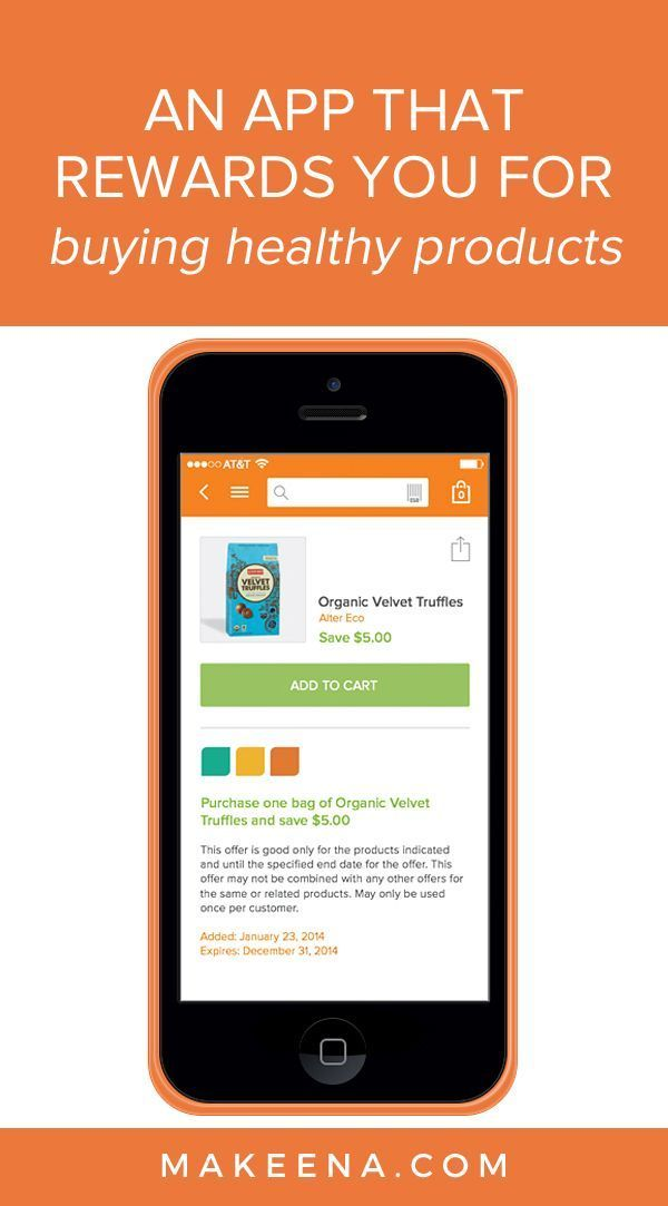 Makeena is a free, easy to download mobile application that earns you money when you purchase healthy & sustainable products at any retailer.