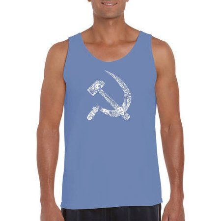 Los Angeles Pop Art Men's Tank Top - Soviet Hammer And Sickle, Size: Medium