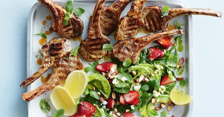Fresh strawberries add a burst of sweetness to Curtis Stone's sensational lamb and spinach salad.