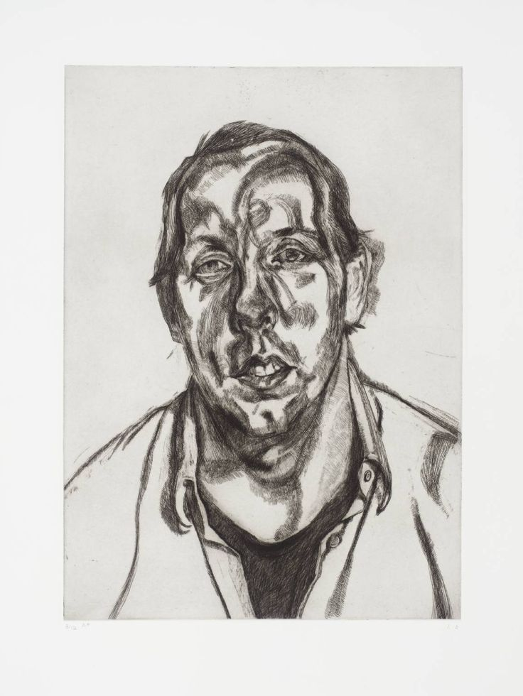 Lucian Freud 'David Dawson', 1998 © The Lucian Freud Archive