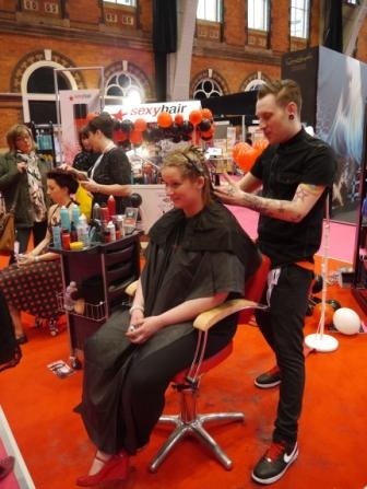 Professional Hairdresser Live 2013 - check out the Sexy Hair team using Easydry on their stand.  www.easydry.com #prohairlive #sexyhair