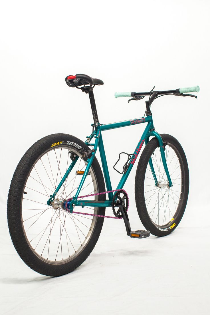 https://flic.kr/p/Ds2kdh | 1991 Specialized RockHopper Comp | Refurbished single speed teal mountain bike.  www.retrobike.co.uk/gallery2/d/15594-2/Spec_Bikes91_Mini.pdf  Geax Tattoo tires Outerdo Saddle