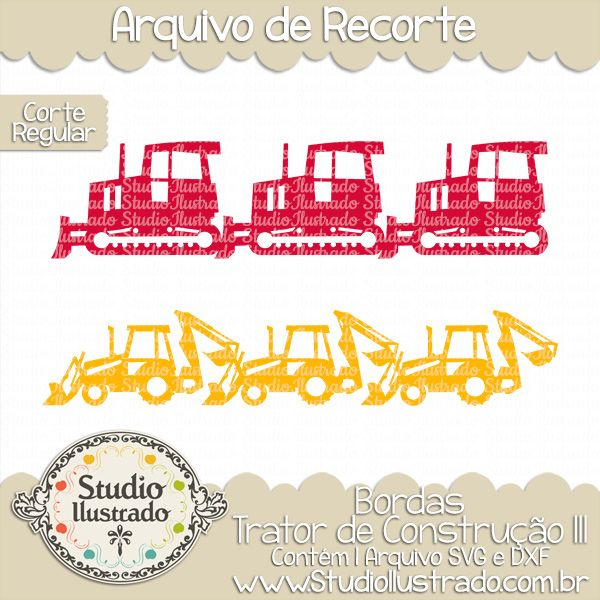 Construction Tractors Borders III, Bordas Trator De