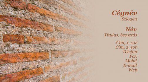 Építés, felújítás, karbantartás névjegykártya minta /Construction, renovation, maintenance business card template
