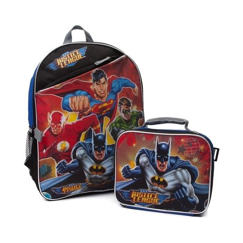 Justice League Backpack with Batman Lunch Box from Journeys on Catalog Spree, my personal digital mall.