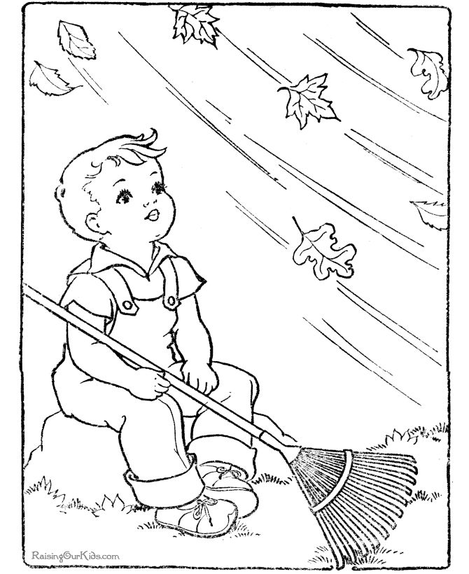 Leaf coloring page for kid to color