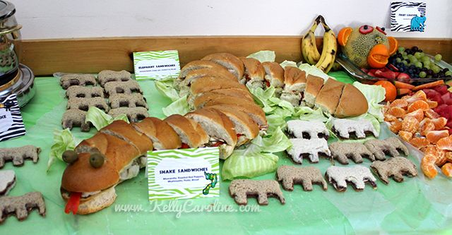 safari party food and party favor ideas