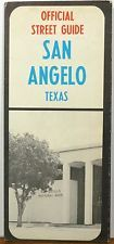 1970's San Angelo Texas National Bank city street road map