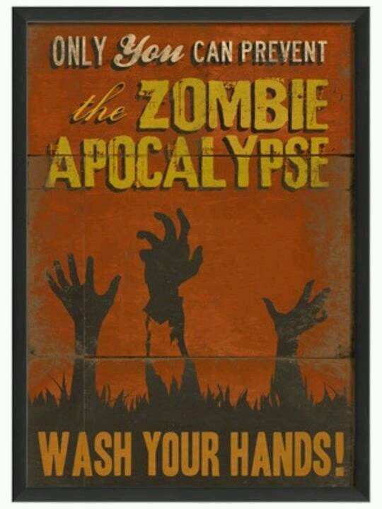 Zombie Apocalypse Wash Your Hands Framed By The Artwork Factory At Gilt Bathroom