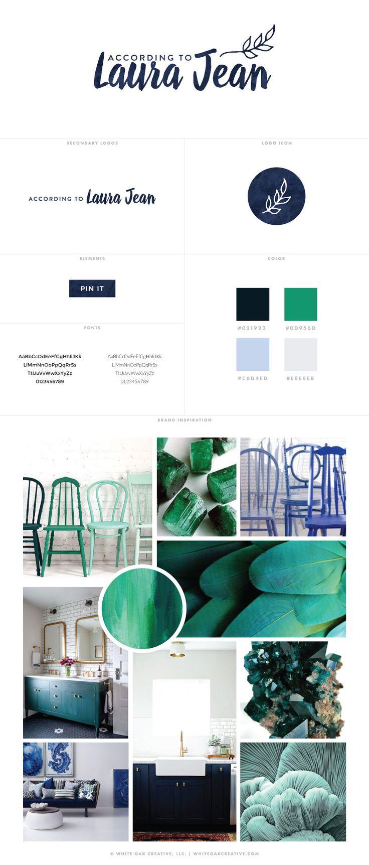 WordPress Blog Design Project for According to Laura Jeanlogo design, logo identity, brand design, blog designer, wordpress