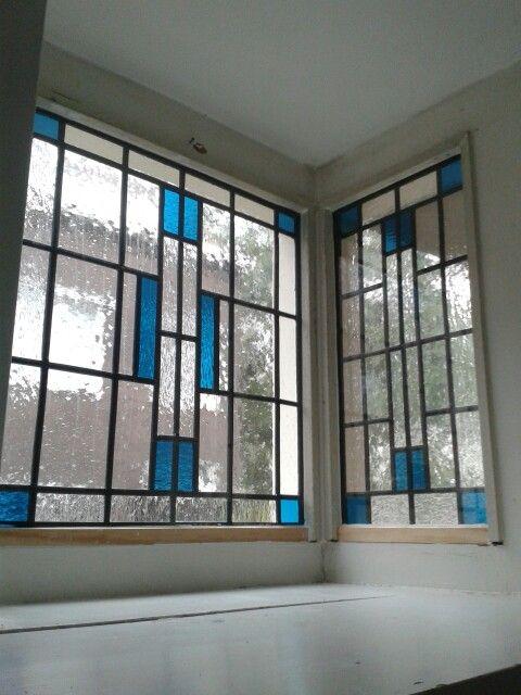 Eigen gemaakt glas in lood ramen in dubbel glas