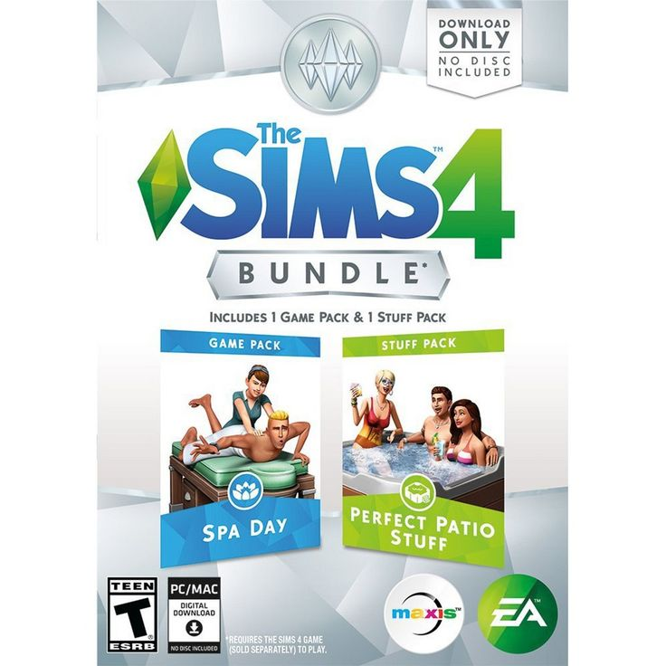 The Sims 4 Bundle: Spa Day and Perfect Patio Stuff - PC Game